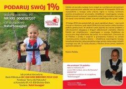 plakat promującyc pomoc dla chorego dwulatka