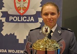 sierż. sztab. Patrycja Wojtas z Komendy Miejskiej Policji w Kaliszu